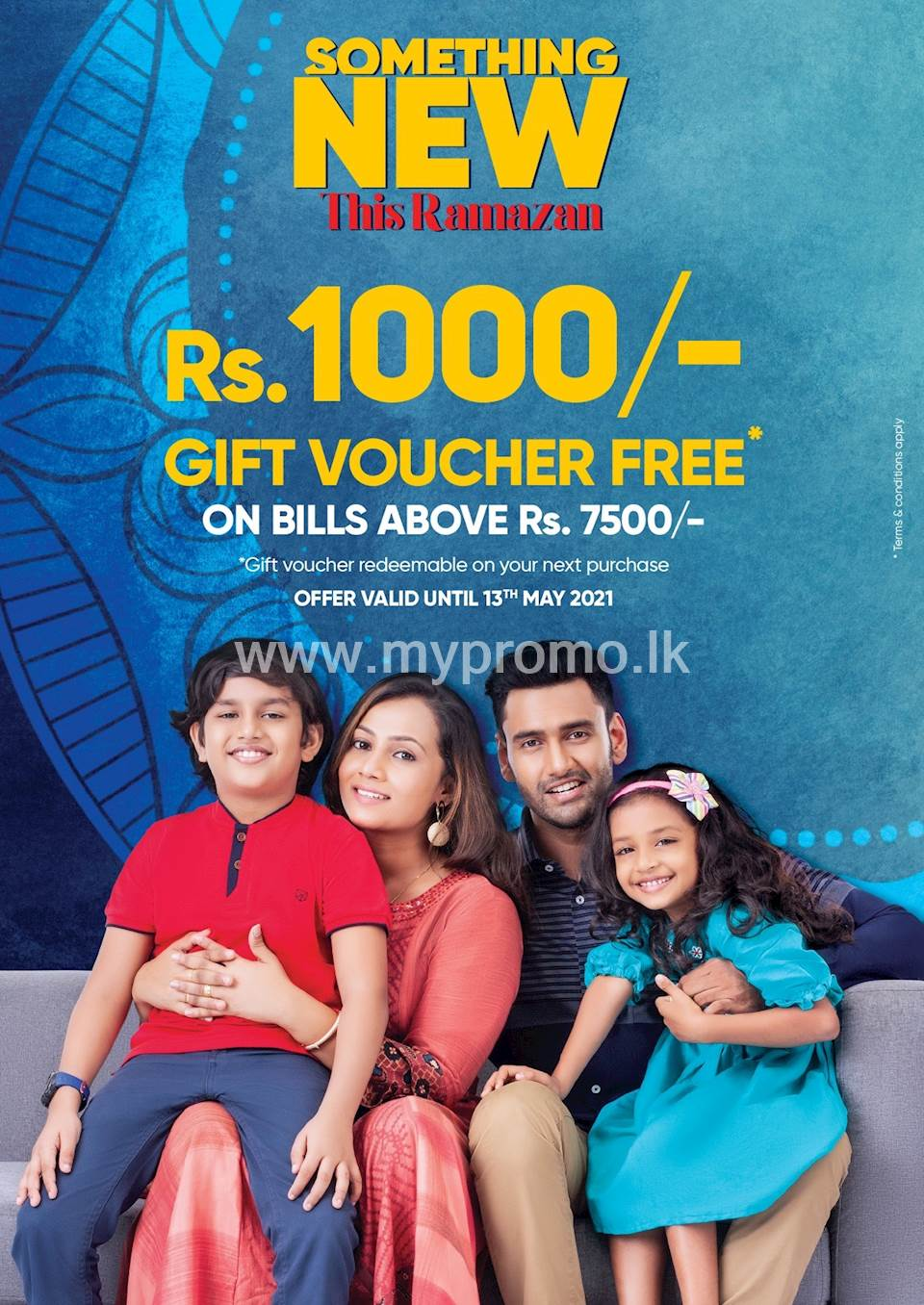 Get a free gift voucher of rupees 1000/= on bills above rupees 7500/= at Fashion Bug