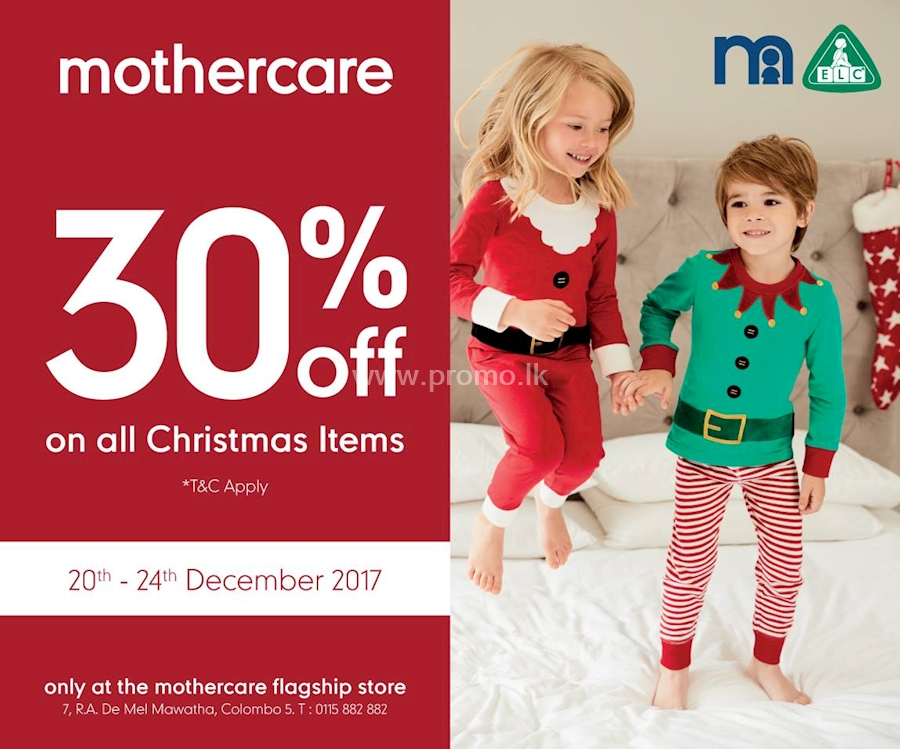 8d7f3425c2281 30% Off on all Christmas Items at Mothercare flagship store