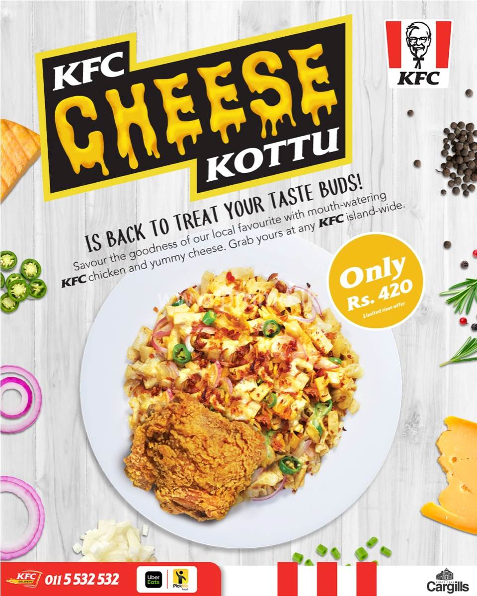 KFC Sri Lanka Cheese Kottu is Back
