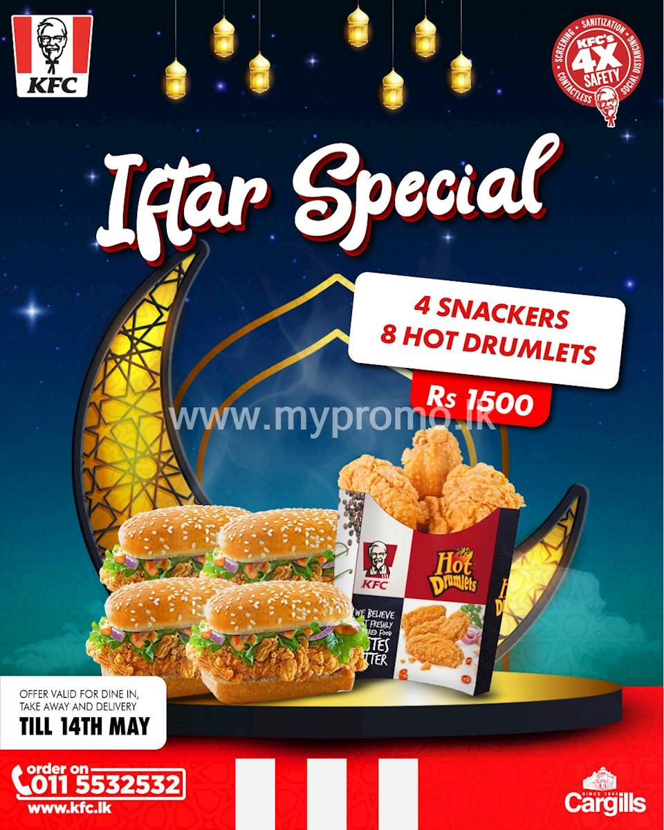 KFC Iftar Special for 1500/-