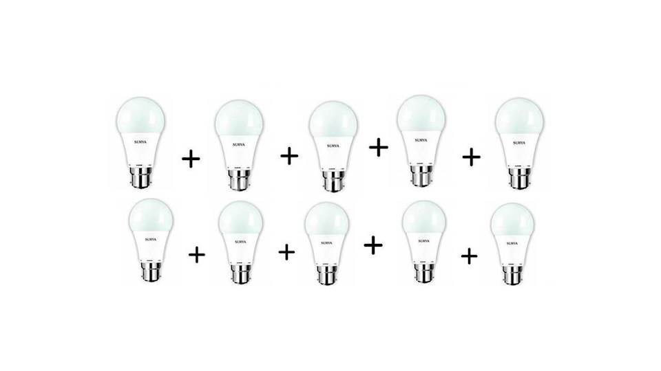 20% OFF SURYA LED BULB VALUE PACKS