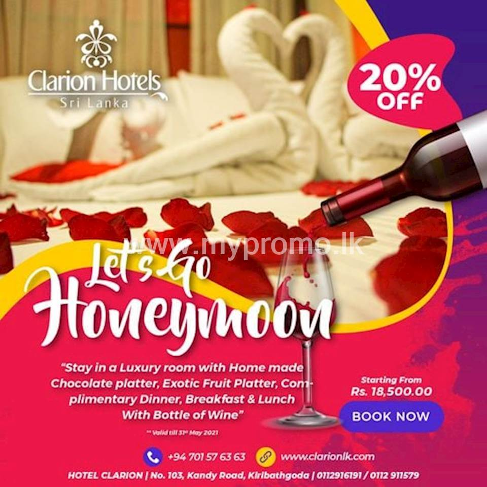 Discount up to 20% at Hotel Clarion
