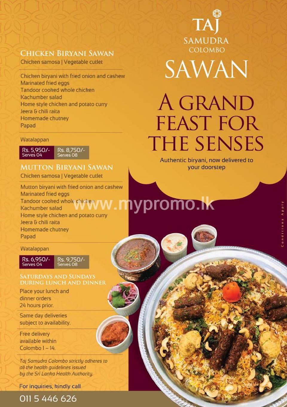 Get your Sawan delivered to your doorstep from Taj Samudra