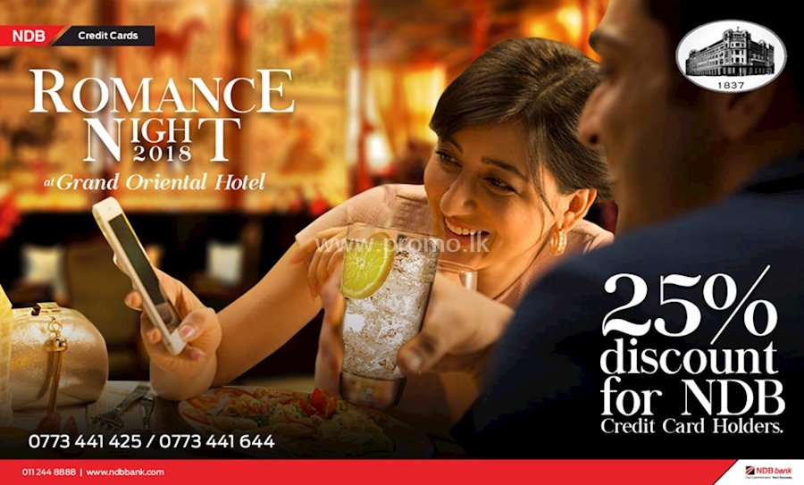 25% Off at The Grand Oriental Hotel on NDB Credit Cards