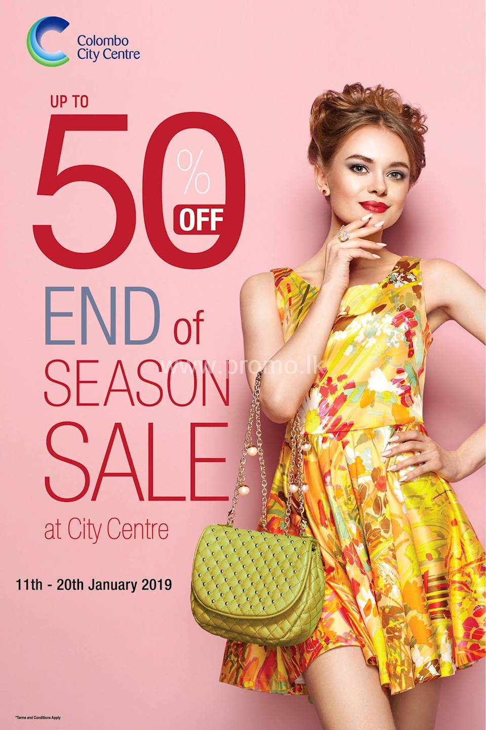 Get Up to 50% off on over 30 international brands at Colombo City Center