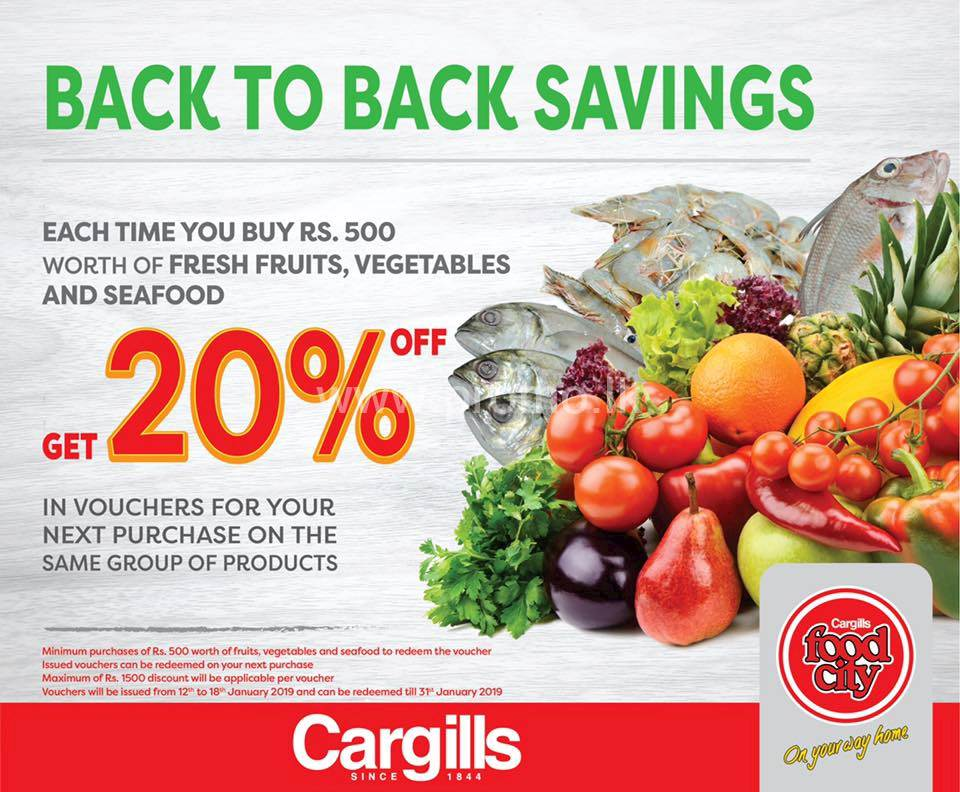 Back to Back Savings at Cargills Food City