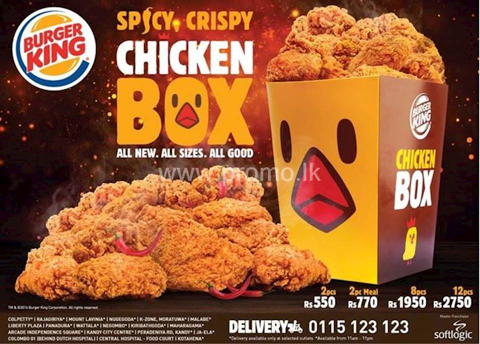 Spicy Crispy Chicken Box from Burger King