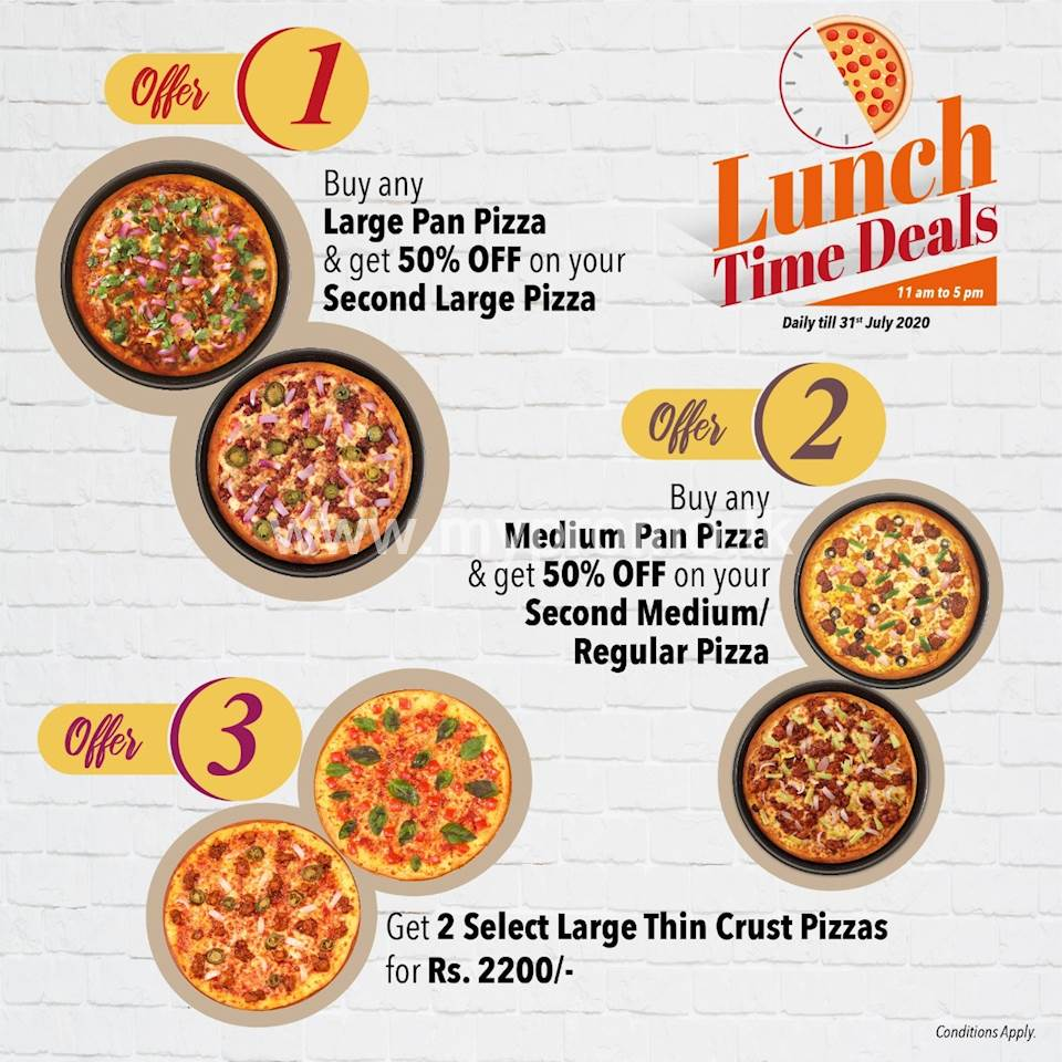 Lunch Time Daily Deal At Pizza Hut Sri Lanka