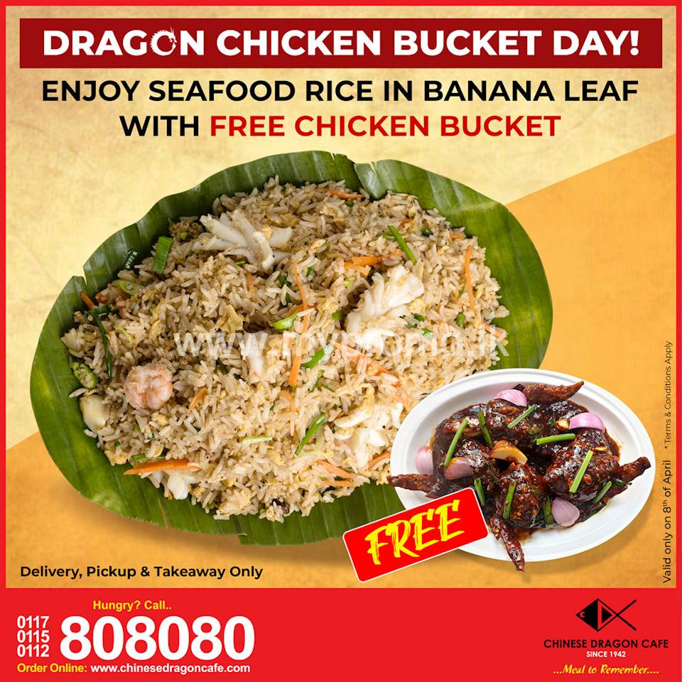 Free Chicken Bucket at Chinese Dragon Café (Today Only)