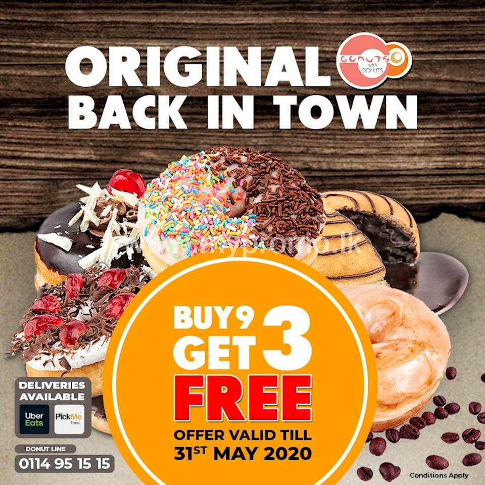 Buy 9 Get 3 FREE at Gonuts with Donuts