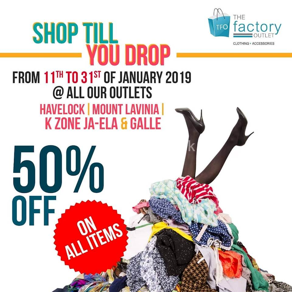 ac6a171edc4298 Receive a Flat 50 % off on all items at The Factory Outlet