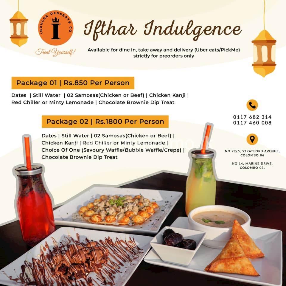 Ifthar Indulgence at Indulge Desserts Co.