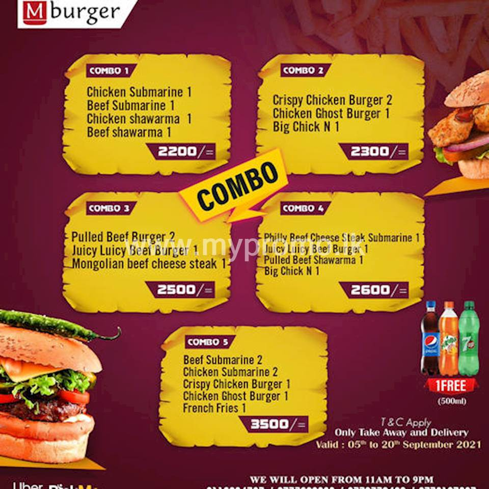 Mburger's special combo