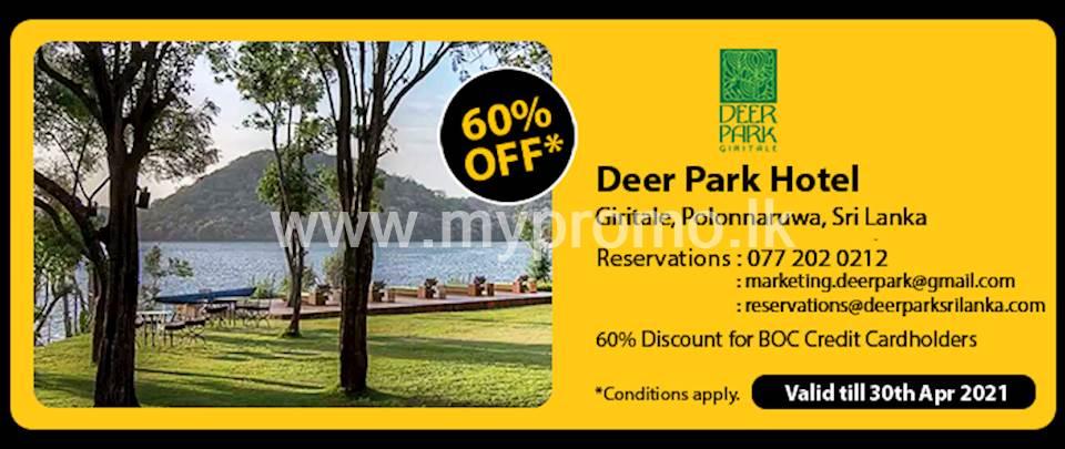60% Off at Deer Park Hotel for BOC Credit Card