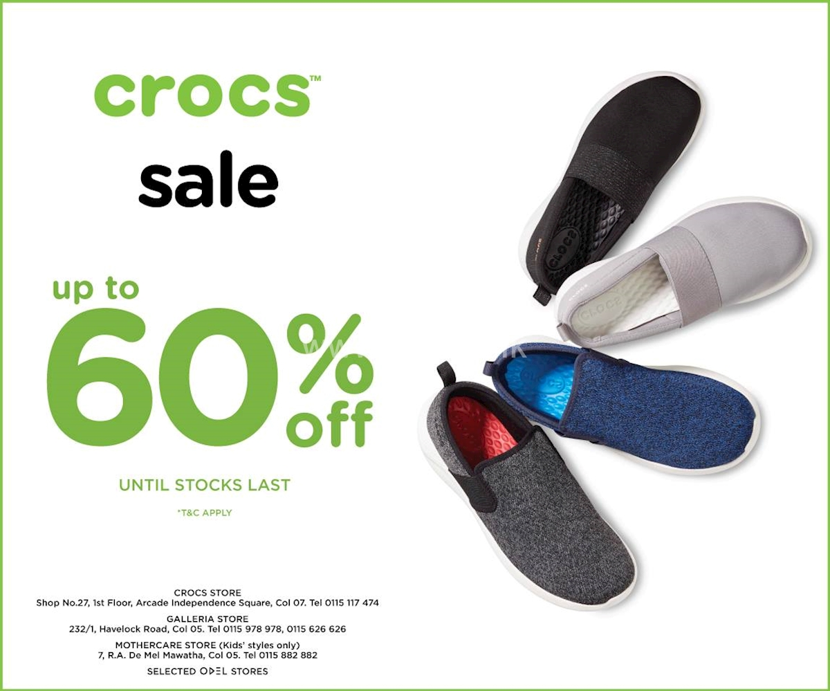 4aa3aad28 Up to 60% Off on Crocs Sale