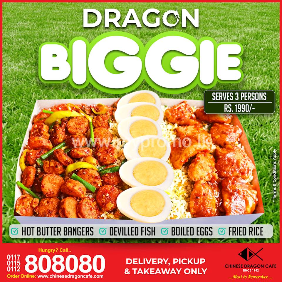 Introducing Dragon BiGGie with Bigger Portions at Chinese Dragon Cafe!