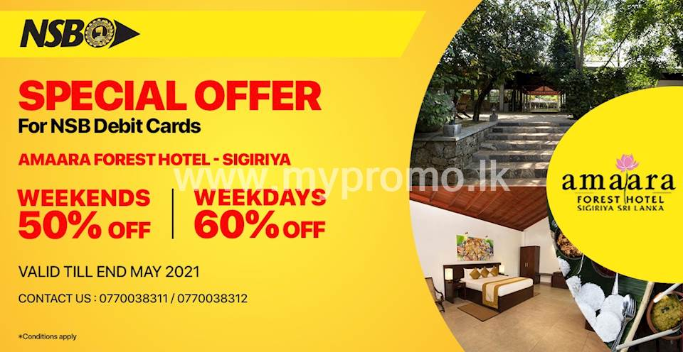 Up to 60% off at Amaara Forest Hotel - Sigiriya for NSB Debit Cards
