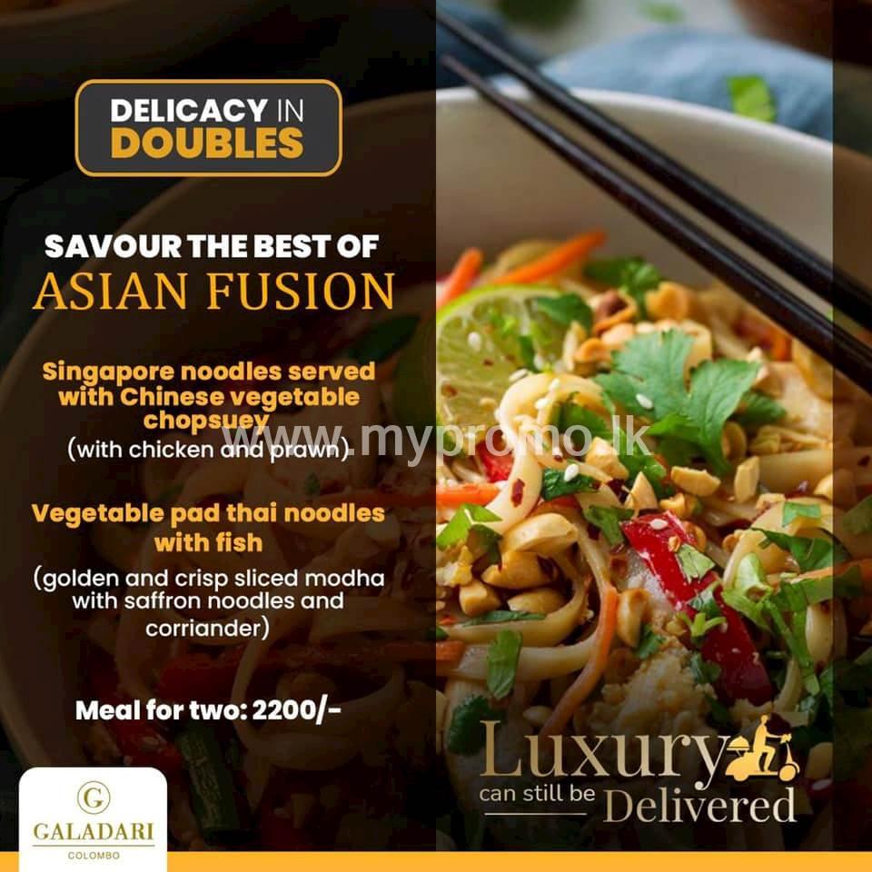 Savour the best of Asian Fusion at Galadari Hotel