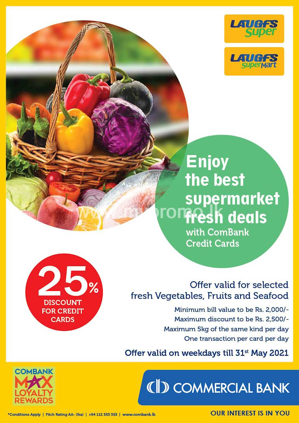 Enjoy 25% Discount with ComBank Credit Cards at LAUGFS Supermarket