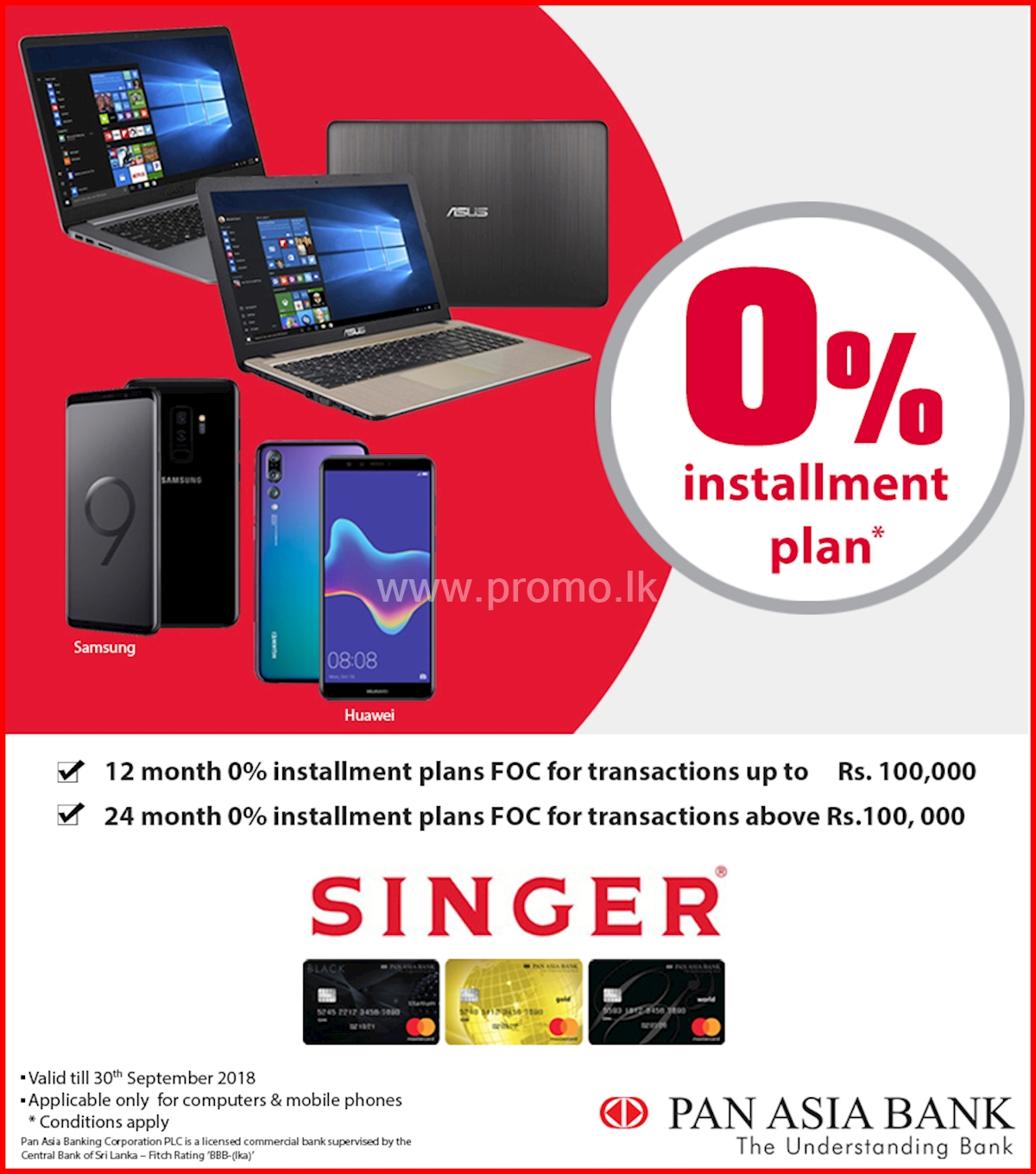 0% Installment Plan on Computers and Mobile Phones at Singer