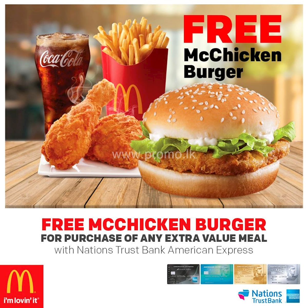 Free McChicken Burger for Nations Trust Bank American Express Cardholders