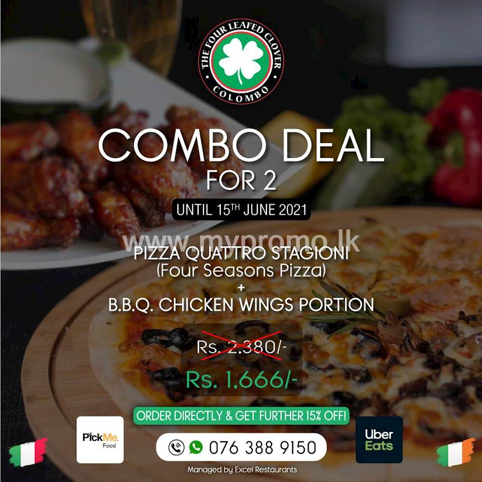 Combo Deal for 2 at The Four Leafed Clover