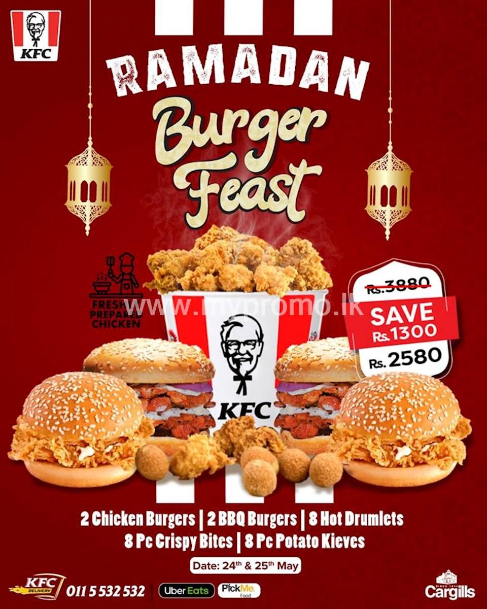 Ramadan Burger Feast at KFC Sri Lanka