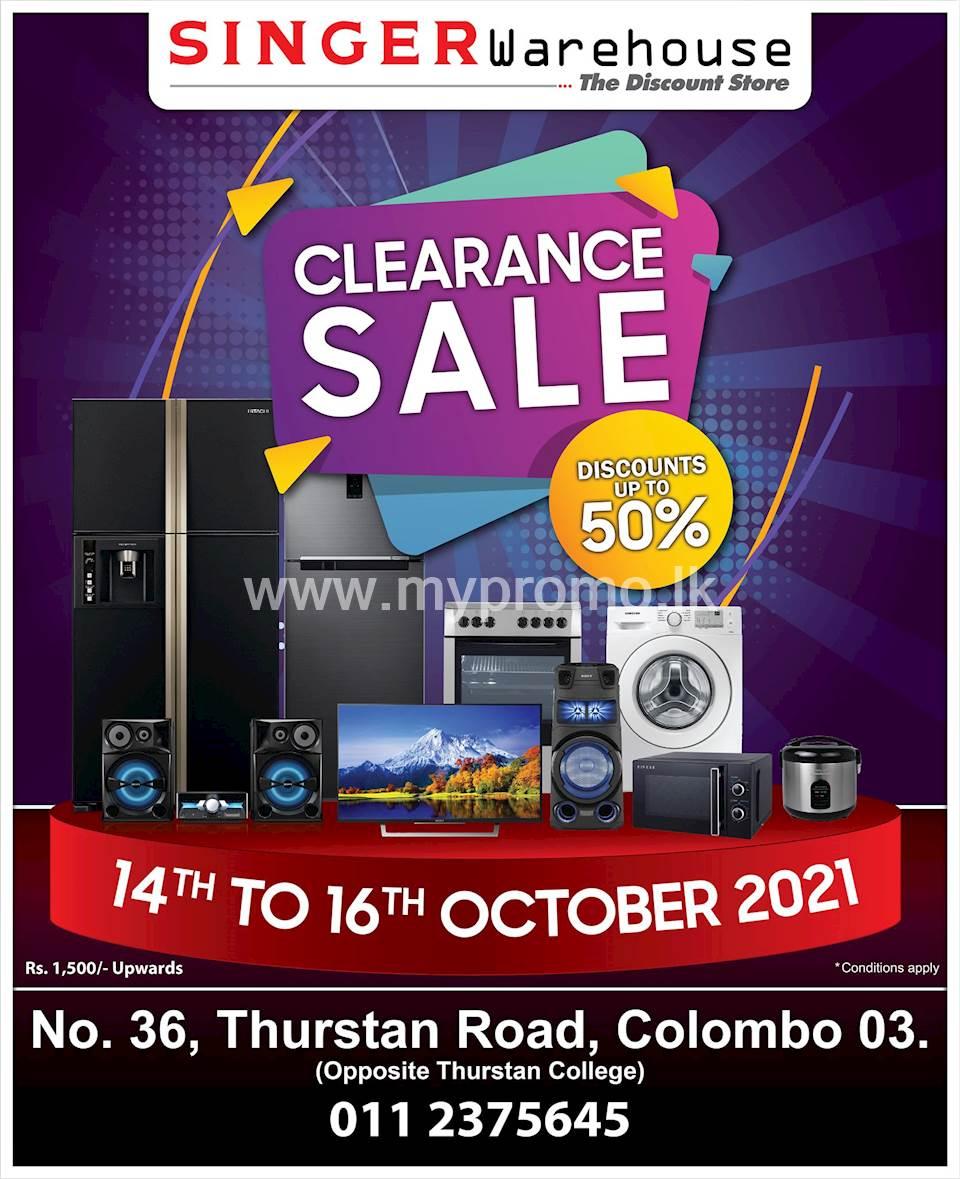 Discounts Up to 50% on Electronics & Home Appliances at Singer Warehouse