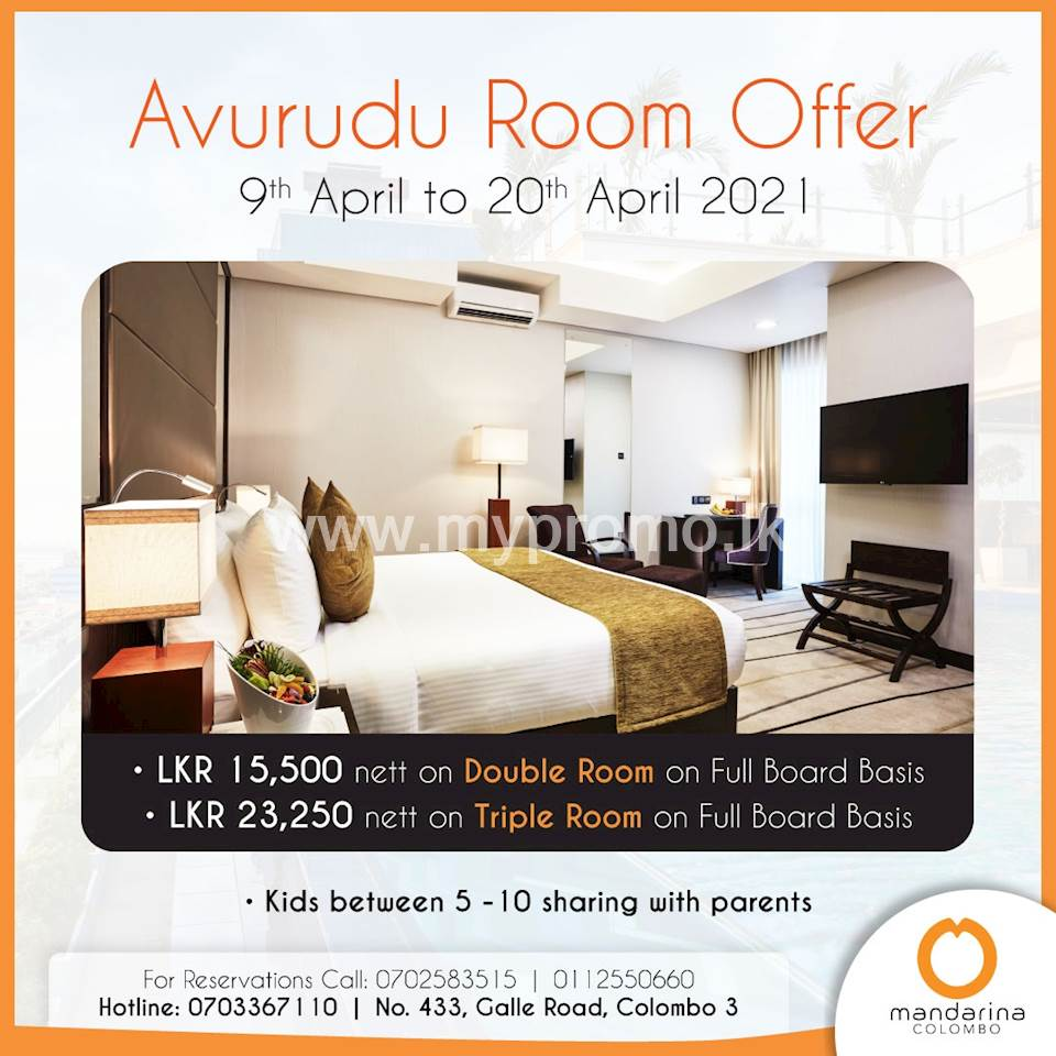 Avurudu Room offer at Mandarina Colombo