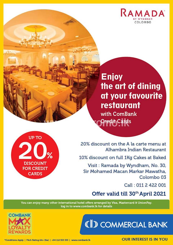 Enjoy up to 20% Off with ComBank Credit Cards at Ramada