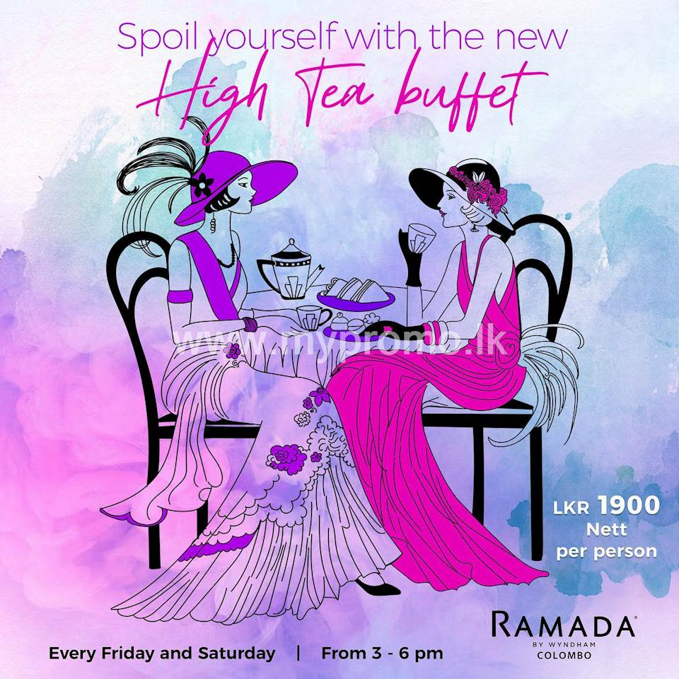 High tea buffet at Ramada Colombo