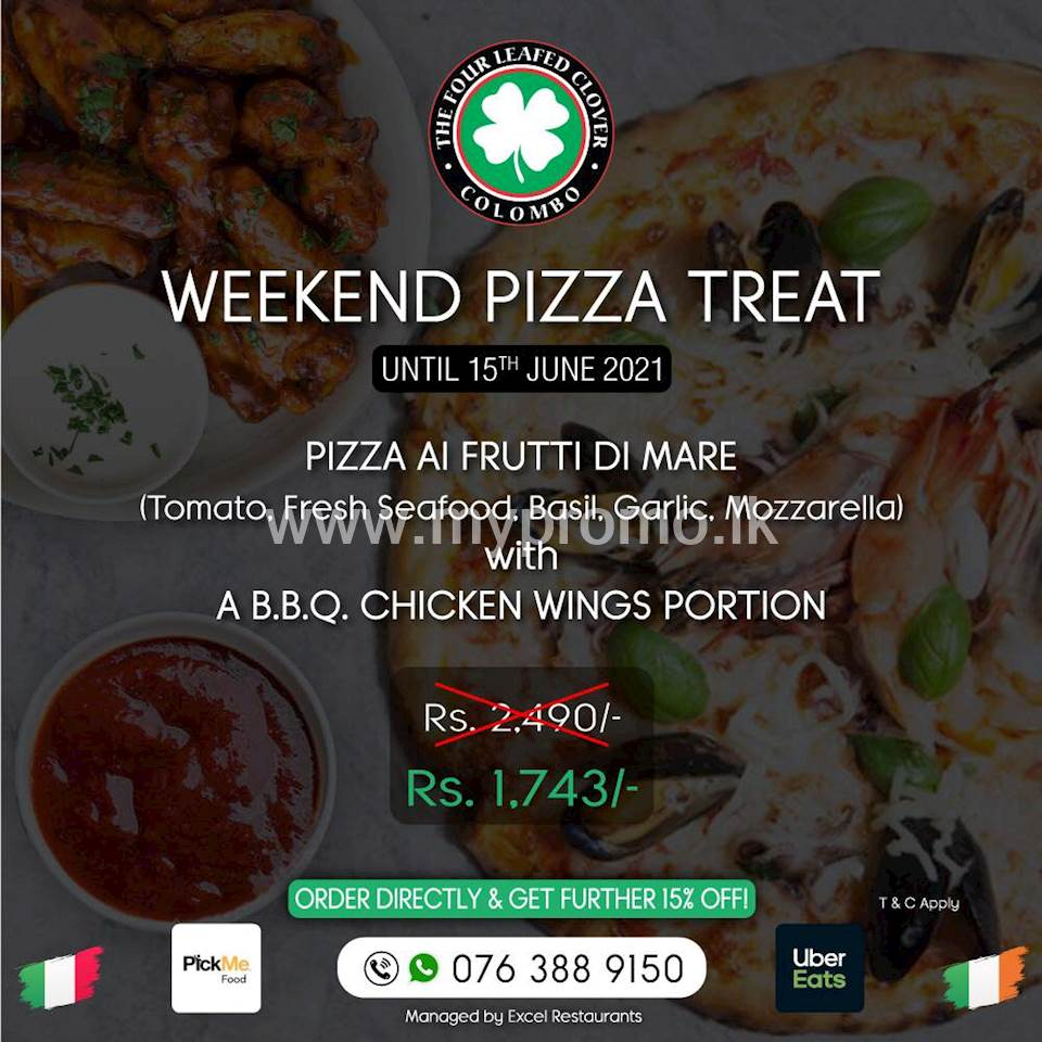 Weekend Pizza Treat at The Four Leafed clover
