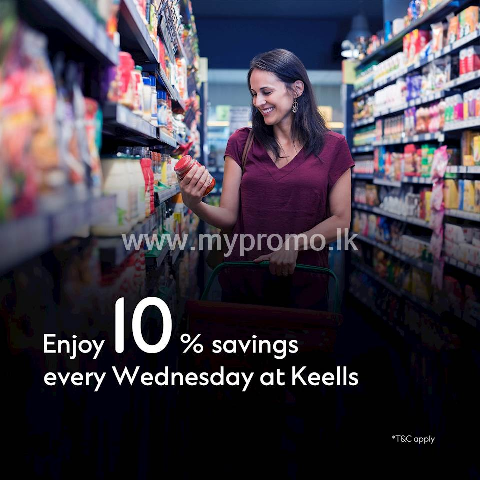 Enjoy 10% saving on your total bill every Wednesday at Keells with your Standard Chartered credit card