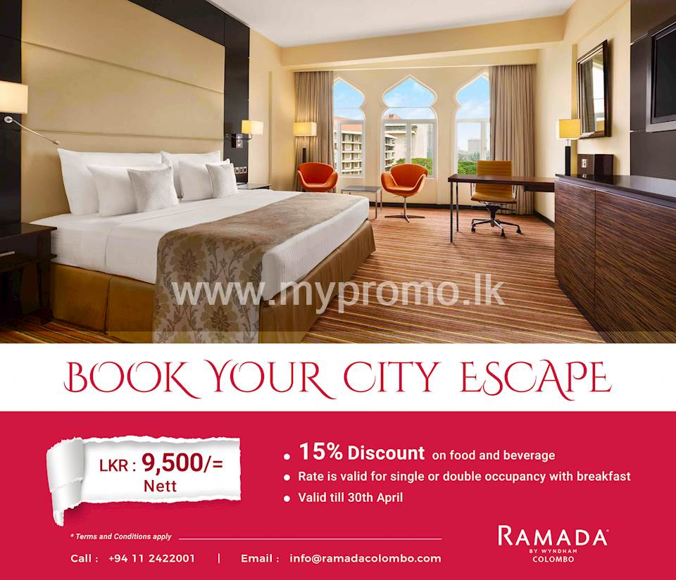Book Your City Escape at Ramada Colombo