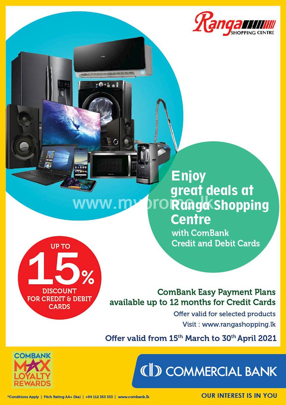 Enjoy great deals at Ranga Shopping Centre with ComBank Credit and Debit Cards