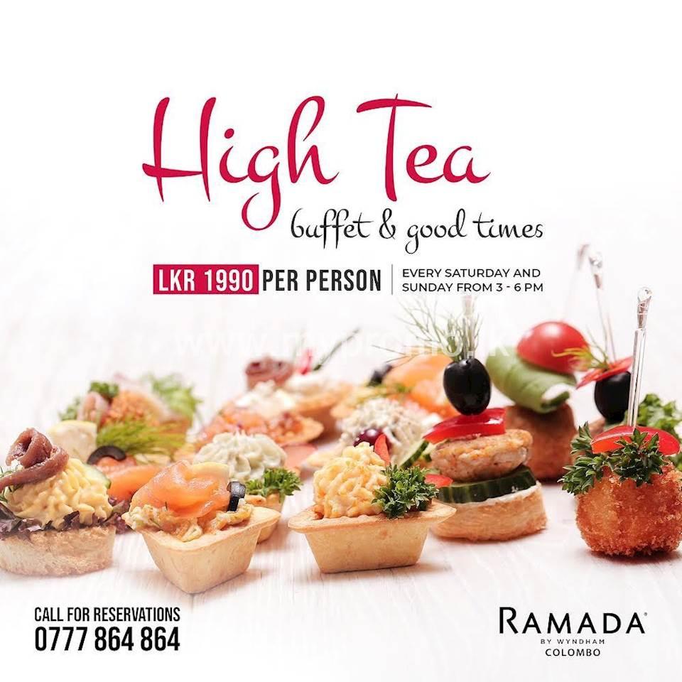 High tea buffet at Ramada Colombo