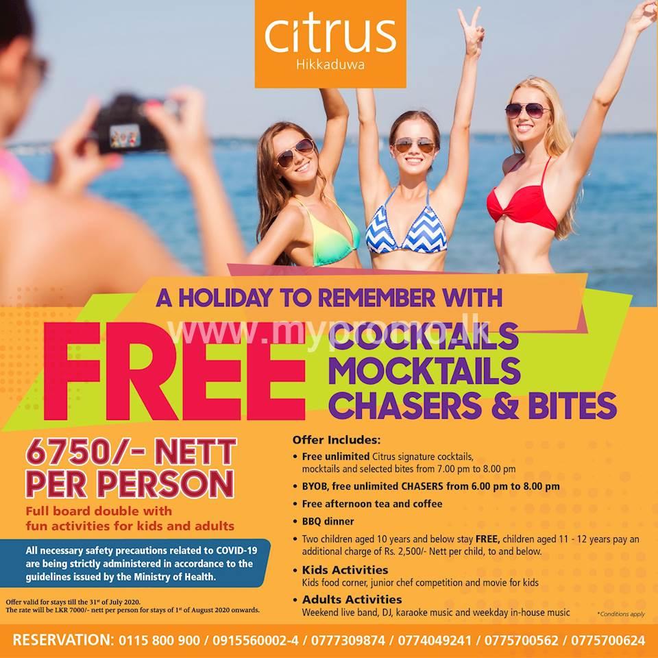 Enjoy Special Offer at CITRUS HIKKADUWA