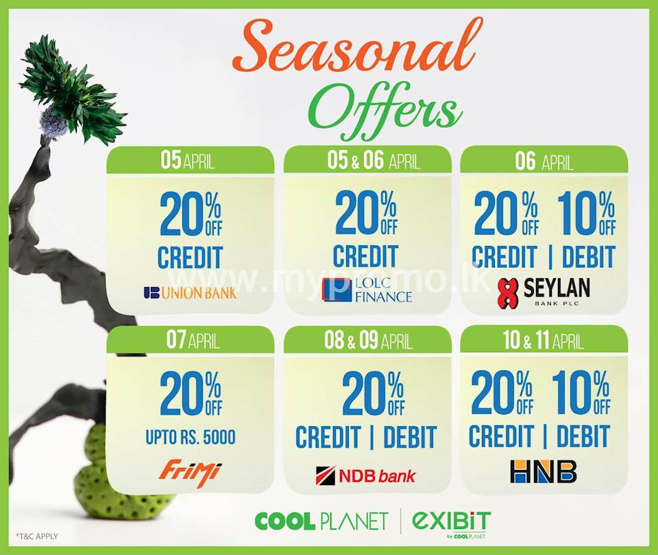Enjoy Exciting Offers this Season at Cool Planet for Selected Bank Cards