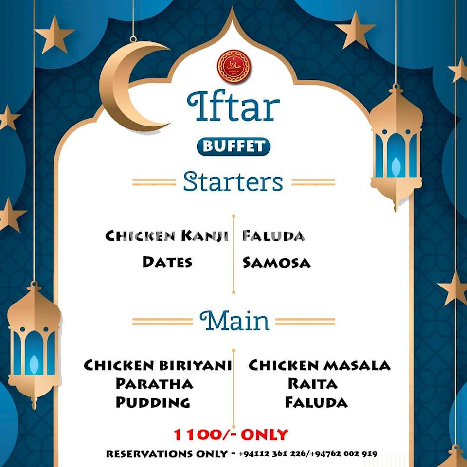 IFTAR BUFFET at Madras Masala