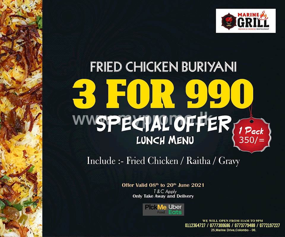 Special lunch offer at Marine Grill