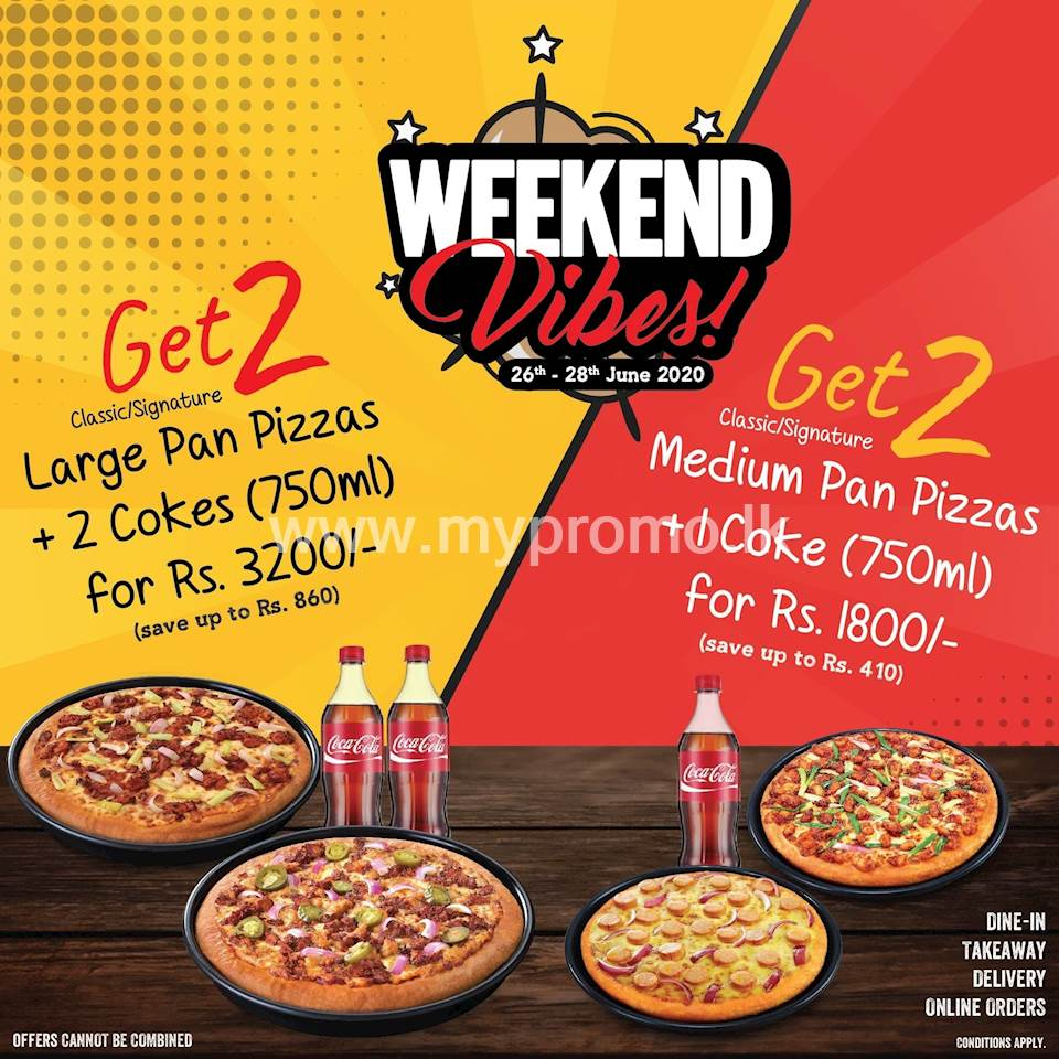 Deal For 2 Pizza Hut Pizza Hut Metrofm