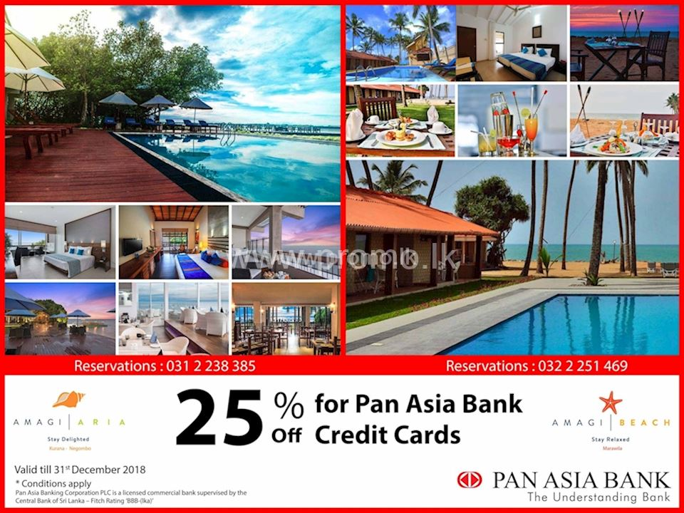25 Off At Amagi Aria On Pan Asia Bank Credit Cards