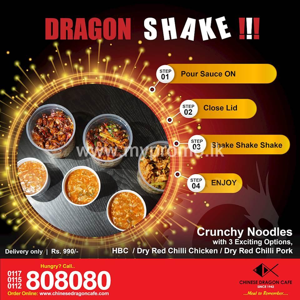 No more Unhygienic, Carb filled Kottu, Enjoy Dragon Shake at Chinese Dragon Cafe!!!