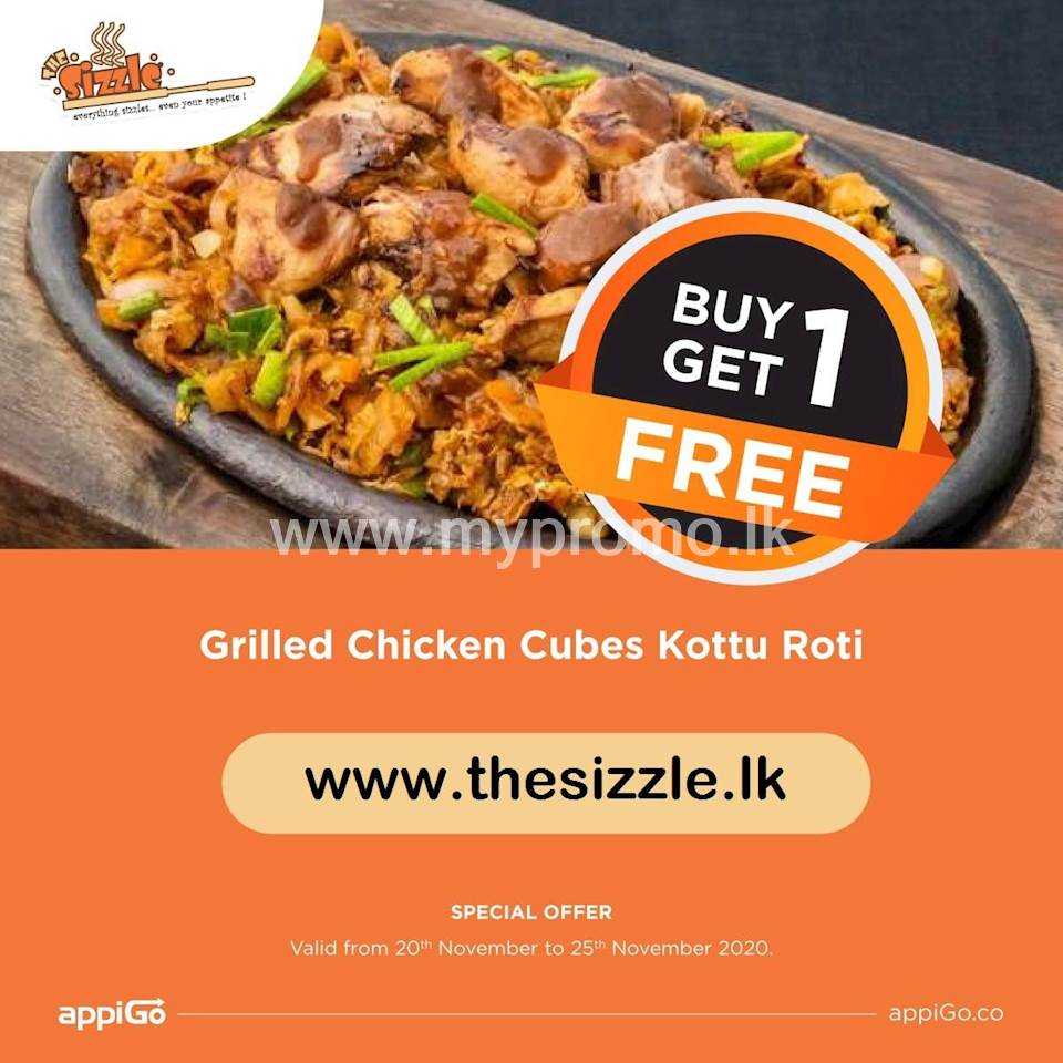 Buy 1 Get 1 Free Grilled Chicken Cubes Kottu Rotiat The Sizzle