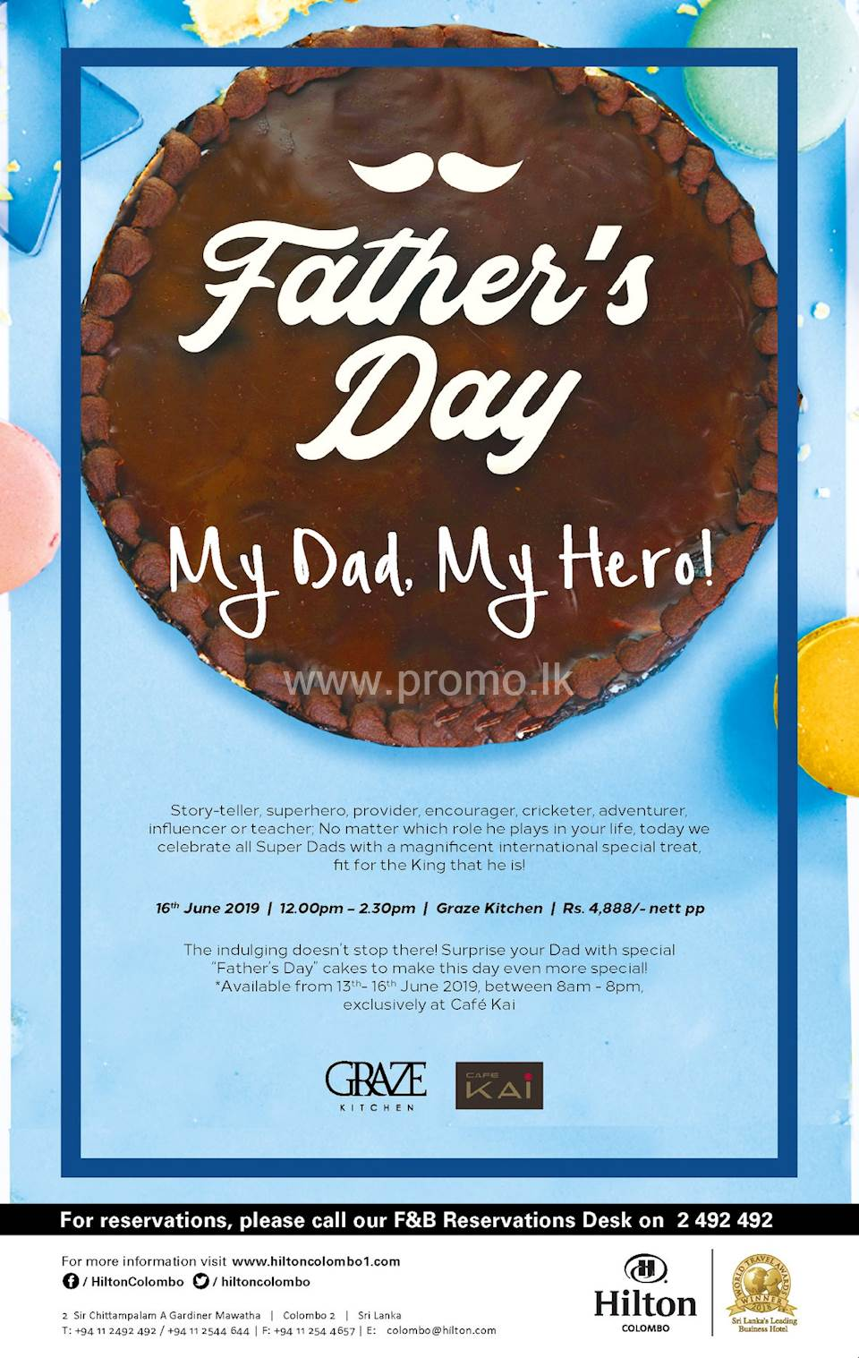 Fathers Day at The Hilton Colombo