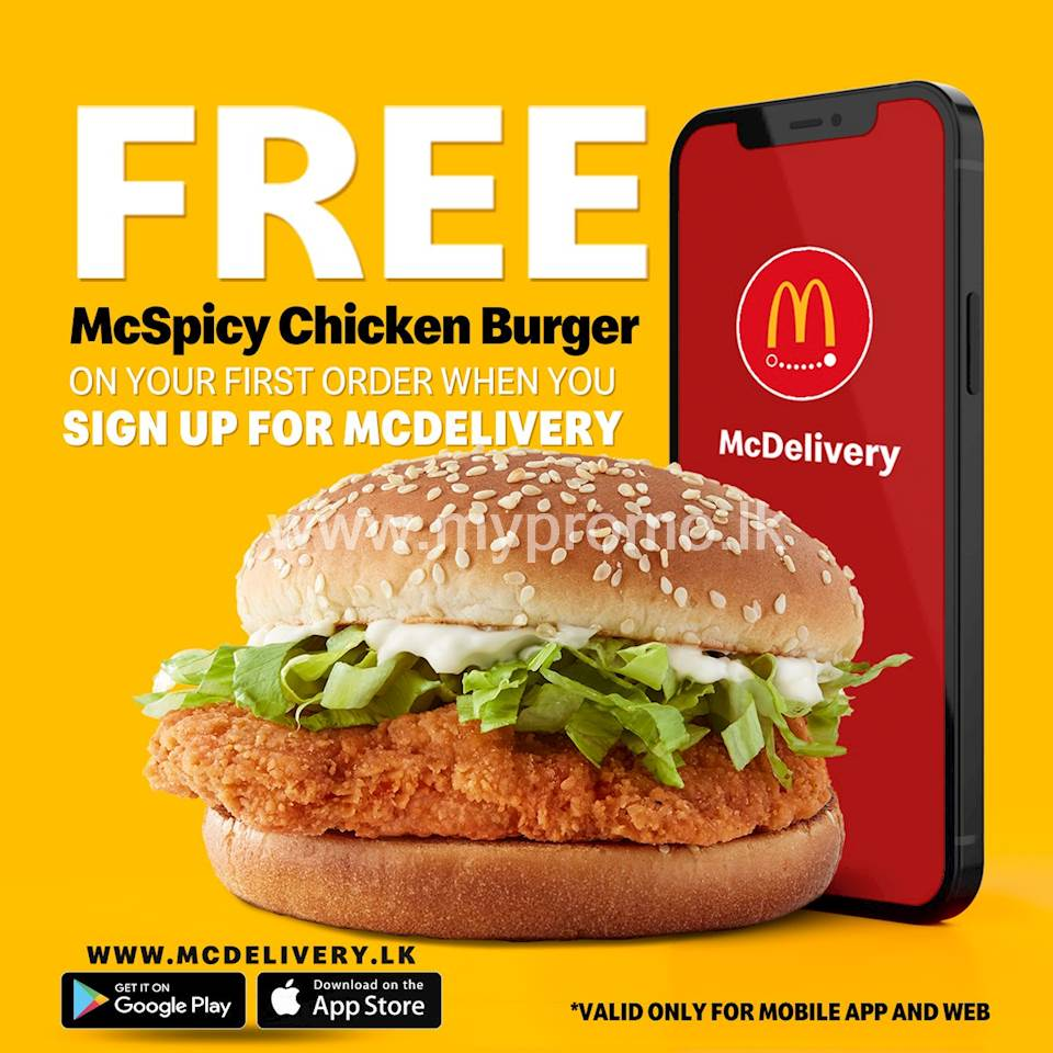 Exclsuive Offer for New Users at McDonalds - Get a FREE Mcspicy Burger on your first Order when you Sign Up with McDelivery