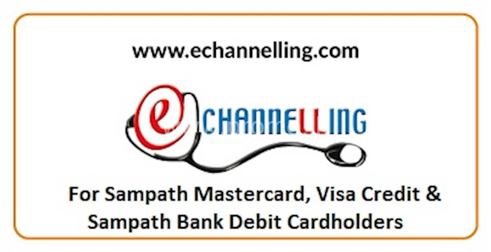 eChannelling 'Service Fee 100% Waived Off' with Sampath Bank Cards