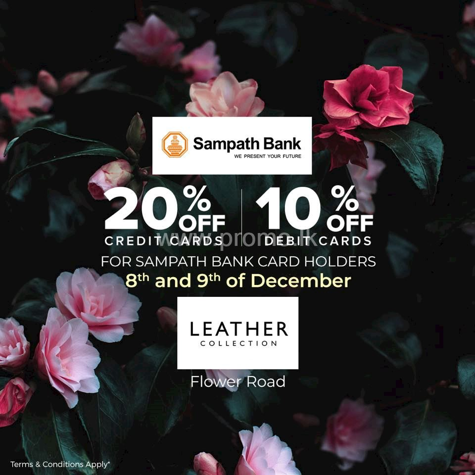 Upto 20% Off at Leather Collection for Sampath Cardholders