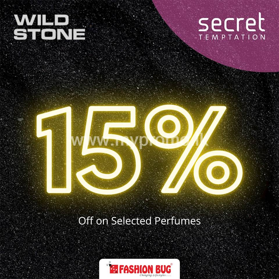Get 15% Off When You Purchase Wild Stone Perfumes at All Fashion Bug Outlets