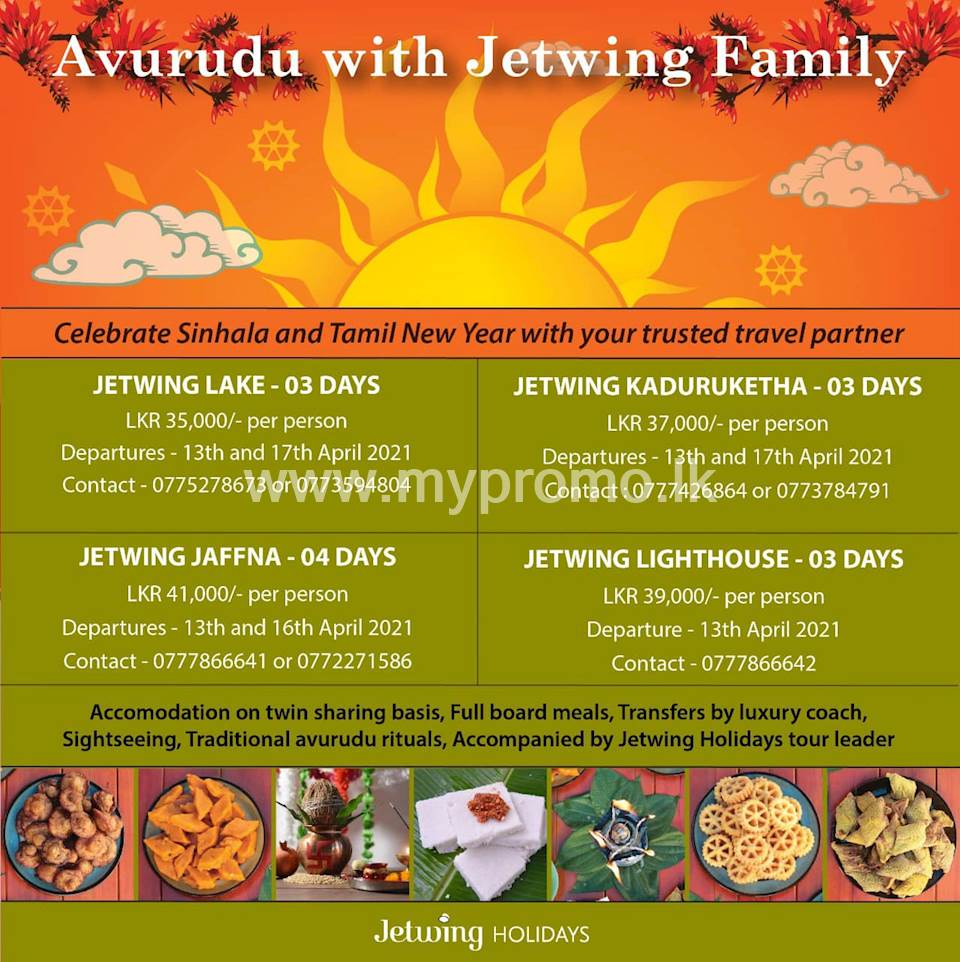 Celebrate Sinhala and Tamil New Year with Jetwing